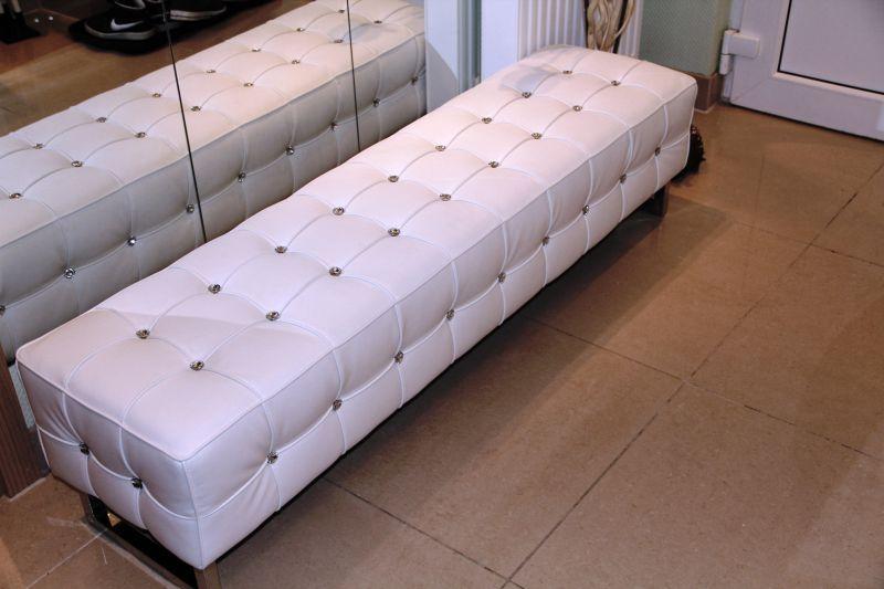 designer pu leder hocker ottomane ottoman sitzbank mit. Black Bedroom Furniture Sets. Home Design Ideas